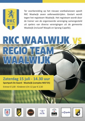 RKC Waalwijk vs Regio team Waalwijk